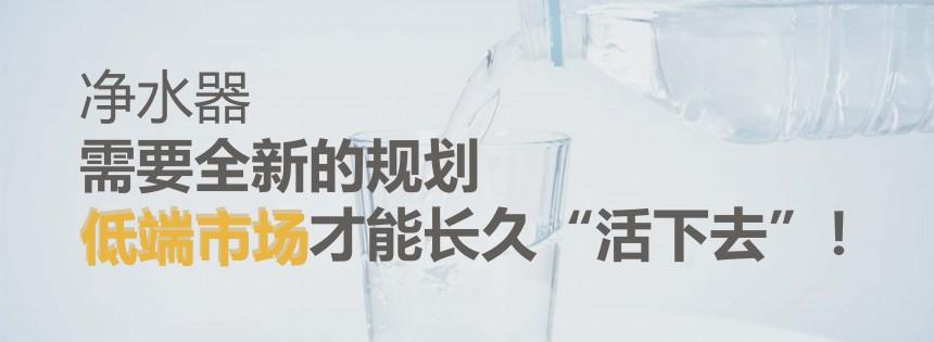 """净水器需要全新的规划 低端市场才能长久""""活下去""""!"""